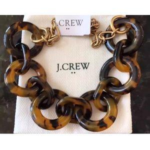 NWT J. Crew 100% Authentic Tortoise Link Necklace
